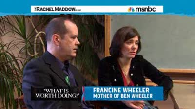 Rachel Maddow  Sandy Hook family  Were still his parents