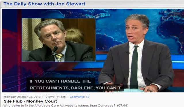 JON STEWART 'TRIES A LITTLE TENDERNESS'