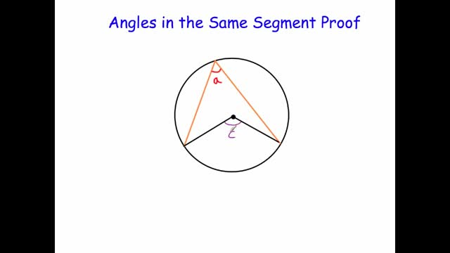 Angles in the Same Segment Proof