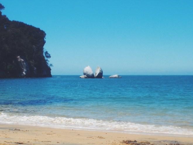 Split Apple Rock in Golden Bay