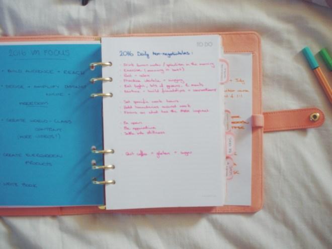 My pretty peach planner. A love story.