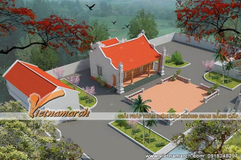 Thiết kế nhà thờ họ cho dòng họ Cao thuộc huyện Lục Ngạn - Bắc Giang. 02