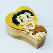 Intarsia wooden puzzle boxes 25