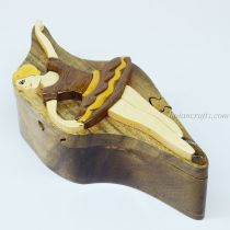 Intarsia wooden puzzle boxes 8