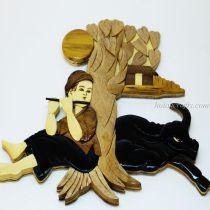 Intarsia wood art painting 10