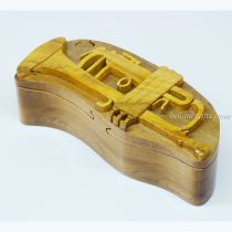 Intarsia wooden puzzle boxes 13
