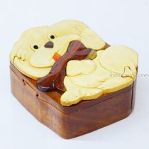 Intarsia wooden puzzle boxes 17