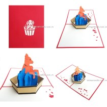 Animal Pop Up Card-AM16