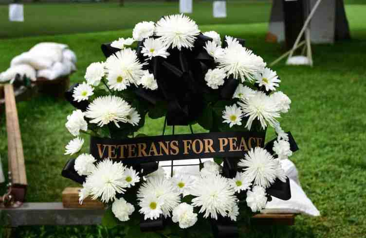 VFP had a wreath to put at the memorial as part of the official commemoration that day.
