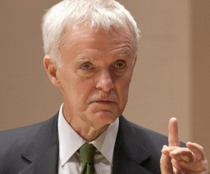 This photo from Oct. 9, 2008 shows former Sen. Bob Kerrey during a healthcare debate in Lincoln, Neb. The former one-term Nebraska governor and two-term U.S. senator is mulling a run to replace U.S. Sen. Ben Nelson, D-Neb., who announced last month that he would not seek a third term. Both Democrats and Republicans have acknowledged that Kerrey is the Democrats' best hope for retaining the seat. (AP Photo/Nati Harnik)