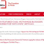 Thư ngỏ quốc tế đòi tự do cho blogger anh Ba Sàm Nguyễn Hữu Vinh