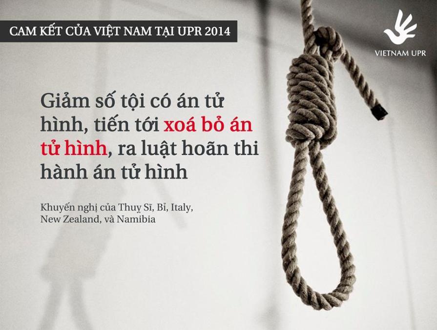 Những cam kết của Việt Nam về án tử hình 2014