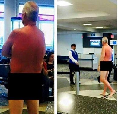 Strip naked at airport 2003