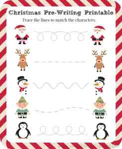 FREE Pre-Writing Christmas Printable