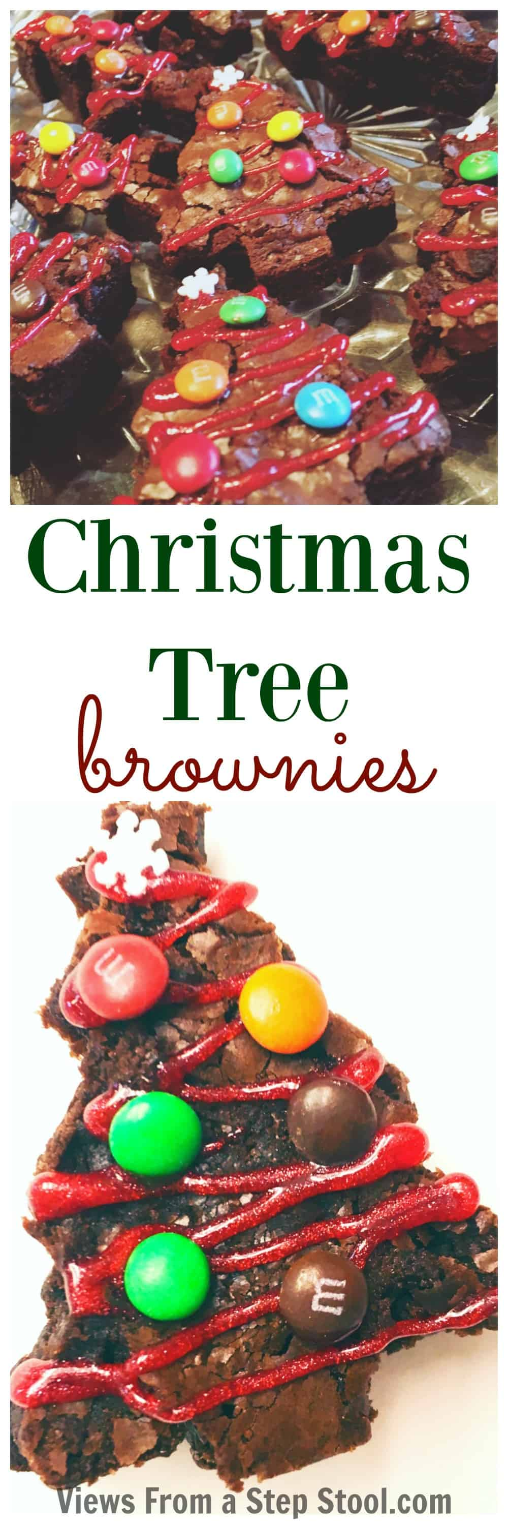 These Christmas tree brownies are so simple to make and are a perfect holiday party treat! Kids will love to decorate these trees!