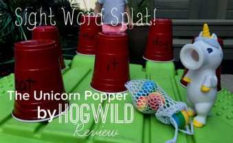 Learn sight words in a fun way with the Unicorn Popper by HogWild!