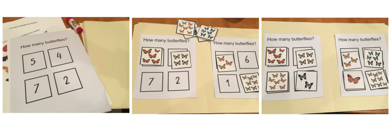 These printable butterfly file folder games are perfect for keeping the kiddos busy! Just print, cut and paste!
