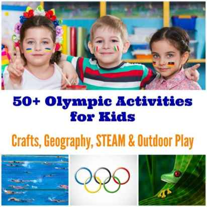 These olympic track and field events show of how science can be observed in sports! Check out these simple activities with household objects for kids' STEM! From jumping to throwing objects, kids can observe, graph and measure, putting their science and math skills to the test while having FUN!