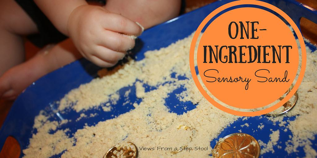 Sensory play does not need to be elaborate! Check out how we double this delicious snack as some super simple, edible, sensory sand!