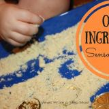 With only one ingredient, make this sensory sand that is safe for babies to play with too!