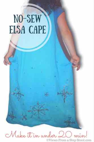 Make two dress-ups out of one t-shirt! This DIY no-sew Elsa cape and a simple doctor shirt are perfect for pretend and imaginative play for kids.