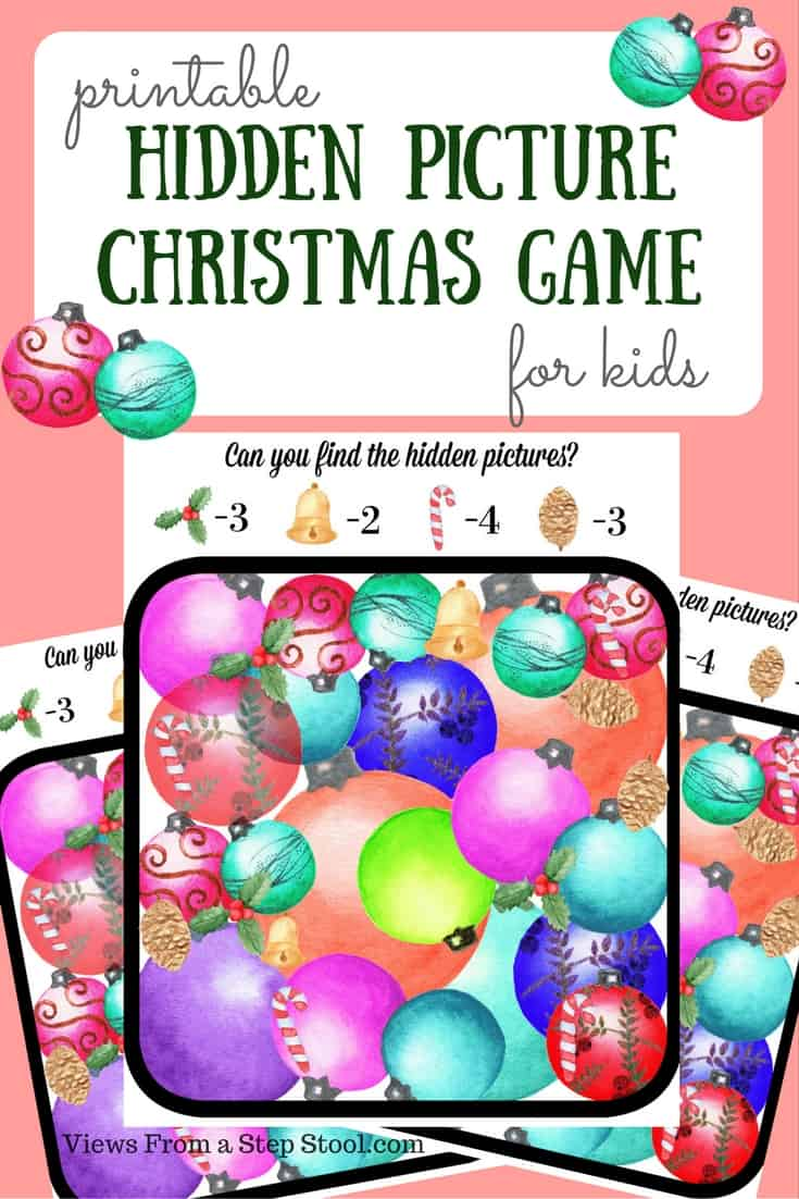 Based on Christmas tradition, this printable game is a spin on hunting for Christmas decorations. Print it out, or plan on your tablet or phone!