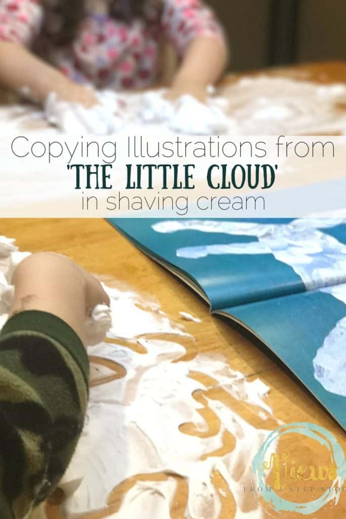 My kids just adored this book, and really enjoyed drawing clouds in shaving cream along with the book.