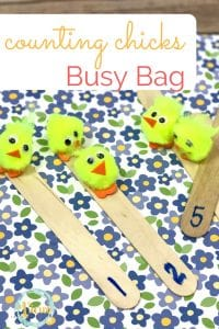 counting chicks busy bag
