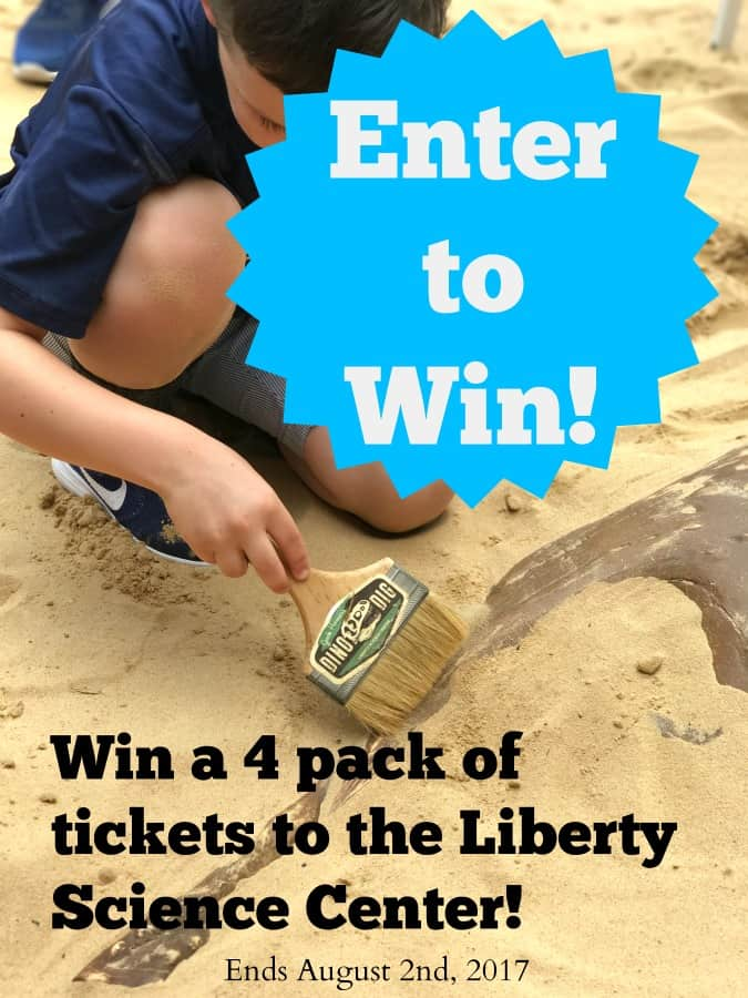 Go on a dino dig at the Liberty Science Center and become a paleontologist for the day. Discover fossils of various dinosaurs and learn through play. Enter to win 4 tickets to the Liberty Science Center.
