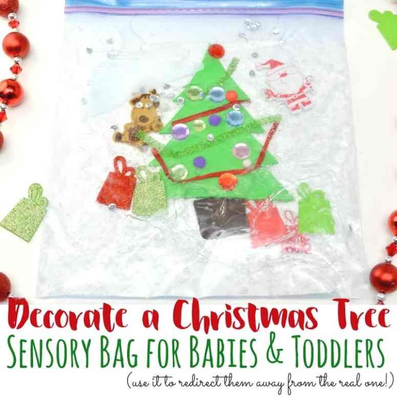 Decorate a Christmas Tree sensory bag square
