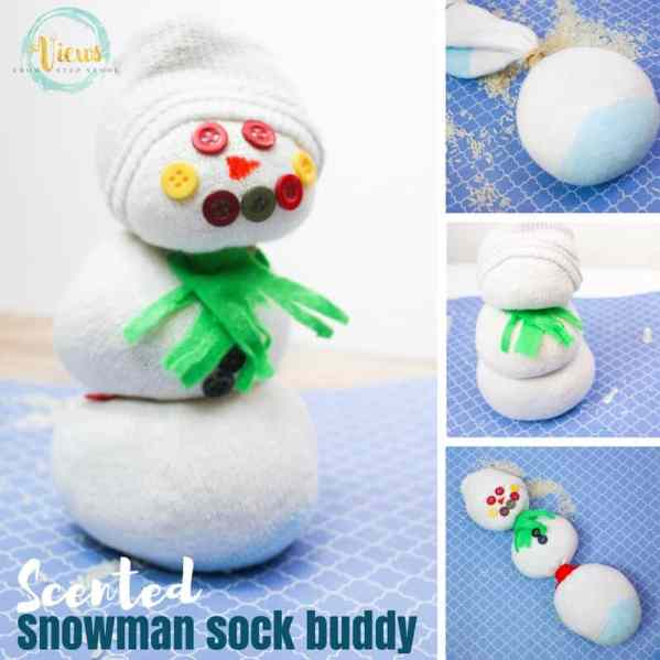 A sock buddy scented with essential oils for kids. Perfect for play or sensory integration. Add scent and an extra sensory component for play!