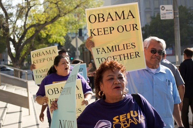Eliseo Medina at an immigration rally in Los Angeles in 2010. (Photo by SEIU International, Creative Commons License)