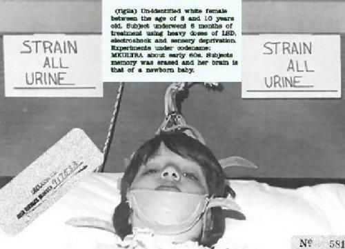 Imagem desclassificado de um jovem sujeito MK-ULTRA, 1961.