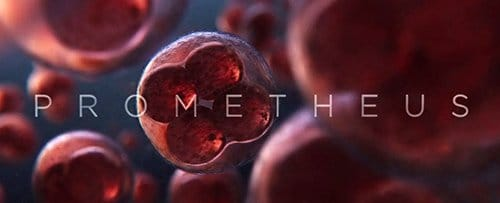 The movie's title screen shows a single cell multiplying itself. This is how human life began on Earth.