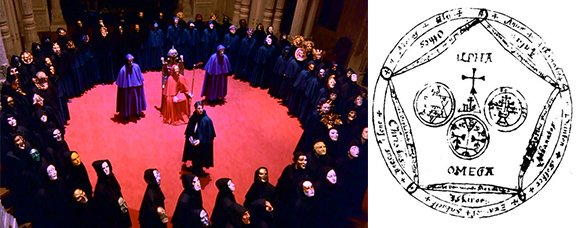 The concept of Magic Circles is constantly refered to during the ritual and throughout the movie.