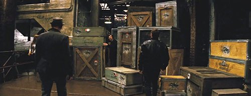 The magicians realizes that the boxes stamped with the sign of The Eye are locked. The Horsemen do not have access to Eye-related privileges anymore.