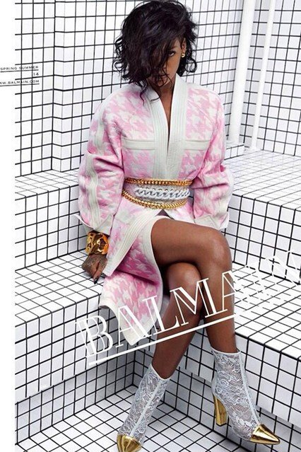 Rihanna is the new face of Balmain fashion house. Unsurprisingly, the two promotional prics that were released feature Rihanna with one eye subtly but wholly hidden.
