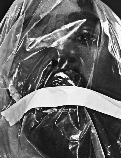 "Here he appears to be suffocating, a common torture used on MK slaves. While this shoot may represent Kanye's ""trials and tribulations"" and whatnot, the imagery still reinforces the promotion of deshumanziation and torture in mainstream media."