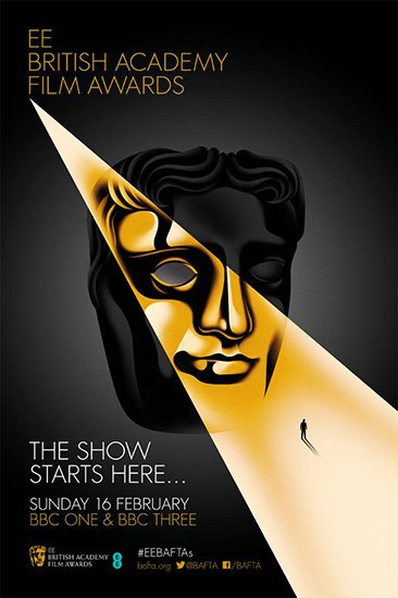 "This poster promoting the British Academy Film Awards is quite symbolic. The light comes from ""above"" (which can represent the elite), goes through one eye (representing the industry) and ends up on a tiny little person. Who does the tiny little person represent? You."