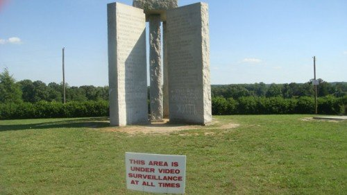 "Strange New ""2014"" Addition to the Georgia Guidestones"