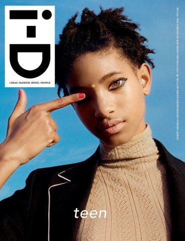 Willow Smith on the cover of I-D.
