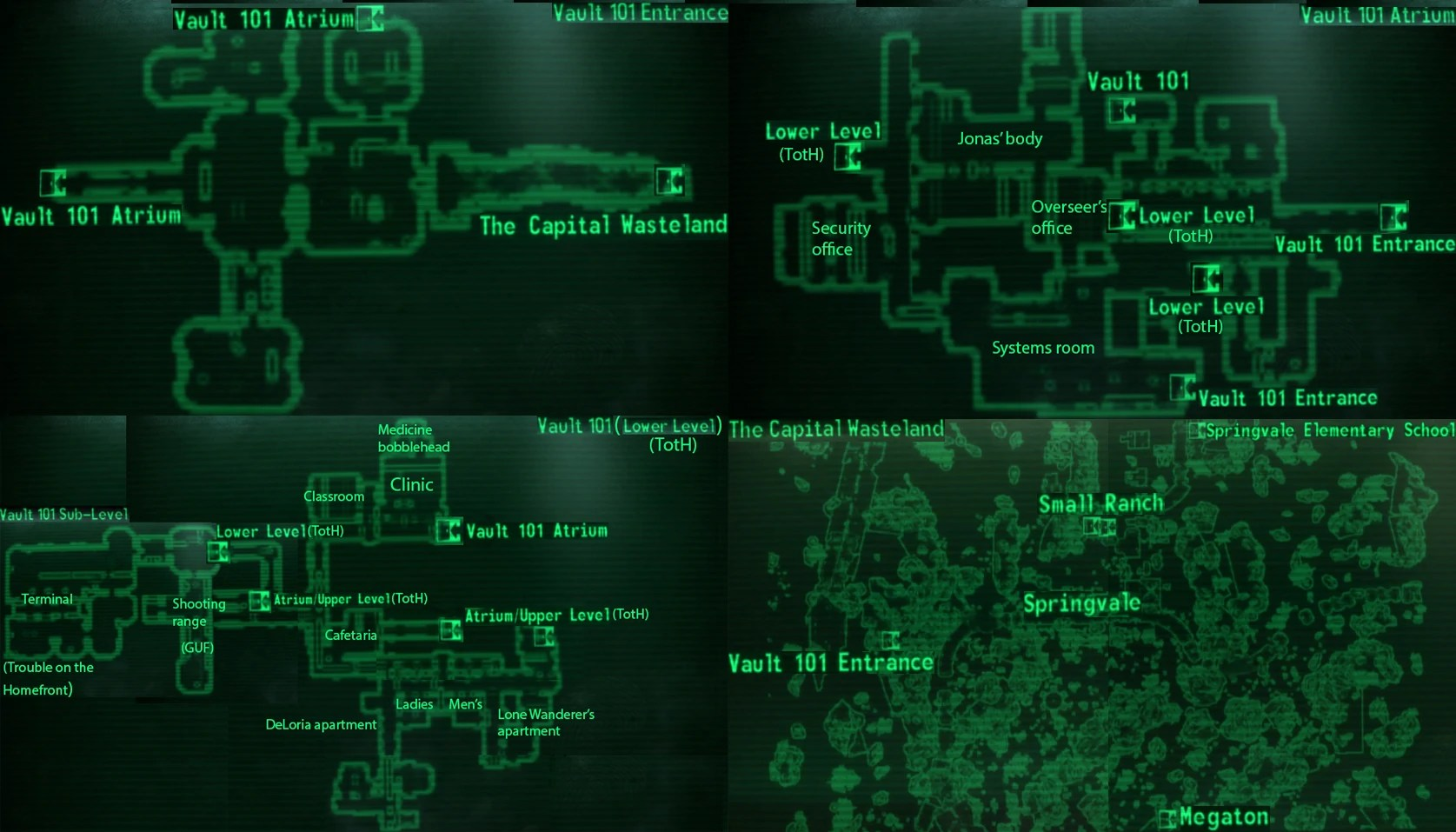 Image   Vault 101 local map jpg   Fallout Wiki   FANDOM powered by Wikia Vault 101 local map jpg