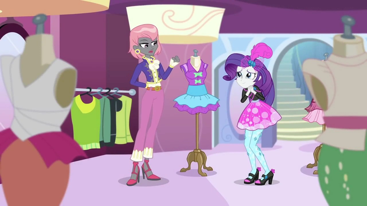 Image - Rarity and Prim Hemline at Carousel Boutique EGDS9.png | My Little Pony Friendship is ...