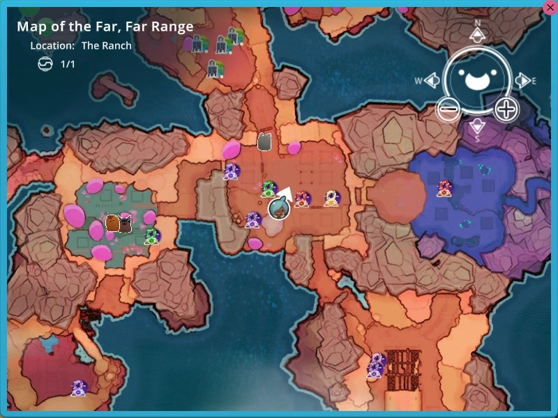 World Map   Slime Rancher Wikia   FANDOM powered by Wikia A portion of the map with some icons tracking Teleporters  some Extractors   and Gordos