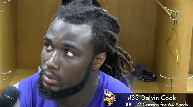 Vikes vs Steelers Postgame w Vikes RB Dalvin Cook