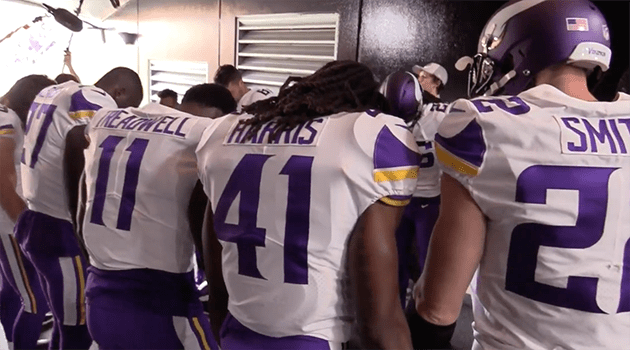 Vikings Leaving the Tunnel Pregame vs Pittsburgh