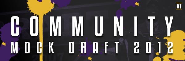 Check out our 2012 community mock draft!