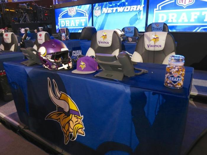 2014 NFL Draft Vikings Table