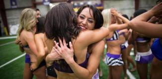 Cheerleader Hug