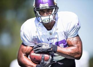 Adrian Peterson Minnesota Vikings Practice Septemter 2015
